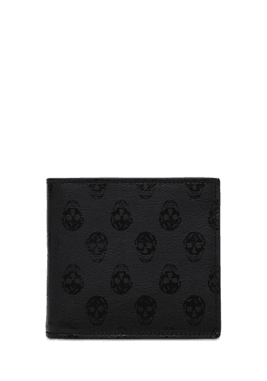 Skull Print Leather Wallet
