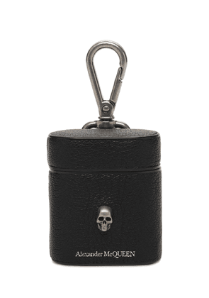 Skull Logo Leather Airpods Case