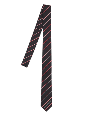 50mm Logo Striped Silk Tie