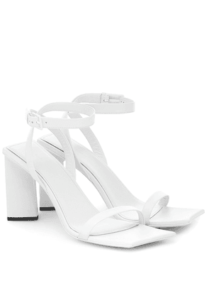 Moon leather sandals