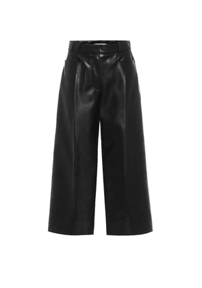 Charlotte faux leather culottes