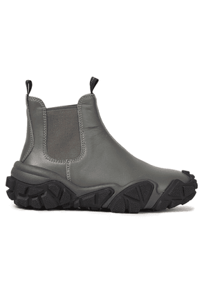 Acne Studios Leather Ankle Boots Woman Gray Size 37