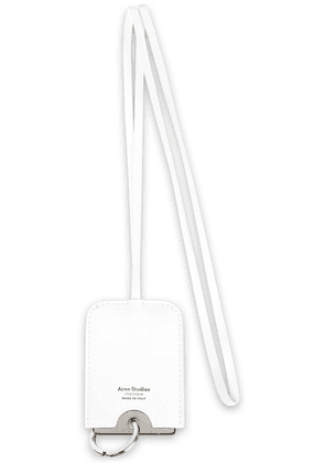 Acne Studios Cinn Silver-tone And Leather Keychain Woman White Size --