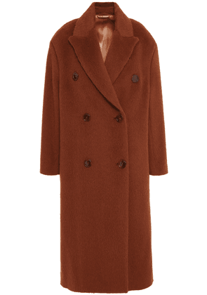 Acne Studios Double-breasted Alpaca And Wool-blend Coat Woman Brown Size 32