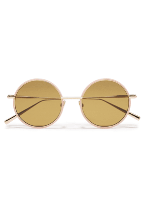 Acne Studios Round-frame Gold-tone Sunglasses Woman Pink Size --