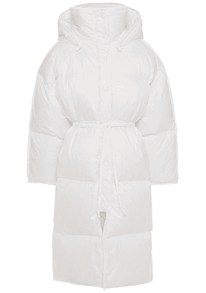 Acne Studios Quilted Shell Hooded Down Coat Woman White Size 32