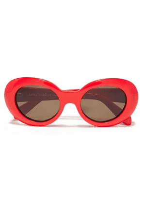 Acne Studios Round-frame Acetate Sunglasses Woman Red Size --