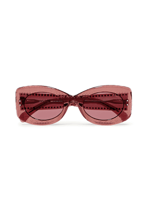Alaïa Square-frame Studded Acetate Sunglasses Woman Pink Size 51
