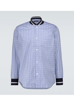 Checked shirt with ribbed trims