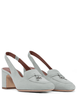 Summer Charms suede slingback pumps