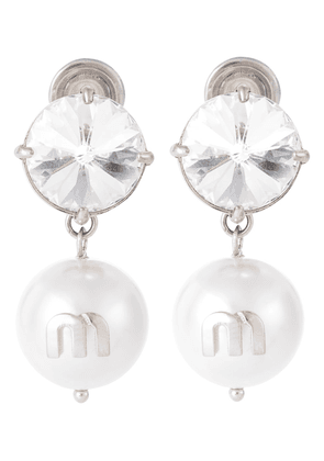 Solitaire clip-on crystal earrings