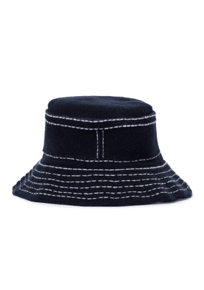 Cashmere and cotton bucket hat