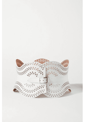 Alaïa - Laser-cut Leather Belt - White