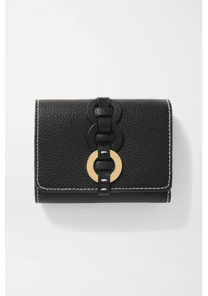 Chloé - Darryl Textured-leather Wallet - Black