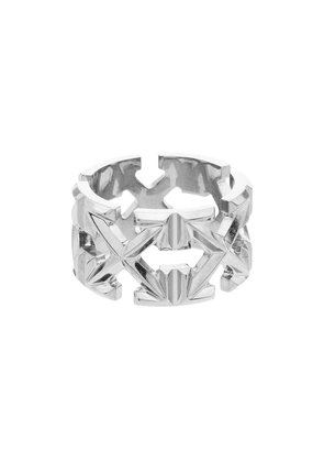 Off-White arrow silver-tone ring