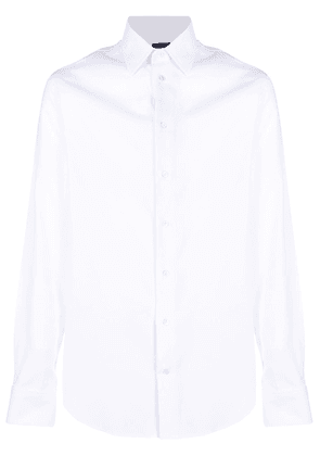 Emporio Armani pointed-collar cotton shirt - White