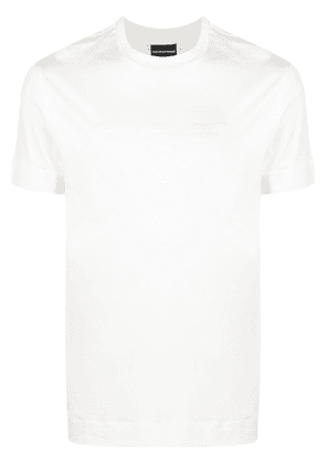 Emporio Armani embroidered-logo cotton T-Shirt - White