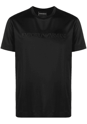 Emporio Armani embroidered-logo T-Shirt - Black