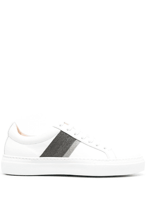 Fabiana Filippi striped low-top sneakers - White