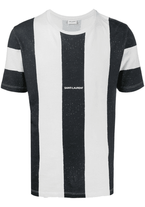 Saint Laurent striped logo T-shirt - White
