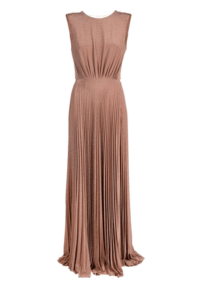 Elisabetta Franchi long pleated gown - PINK