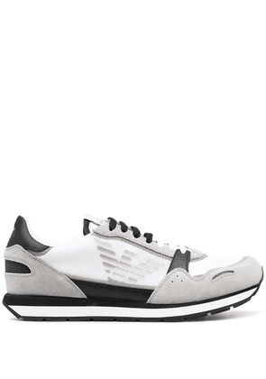 Emporio Armani panelled low-top sneakers - White