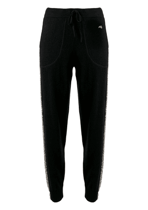 Bella Freud Britt sparkly side stripe trousers - Black