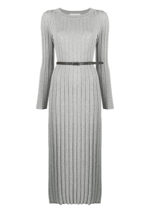 Fabiana Filippi ribbed knit midi dress - Grey