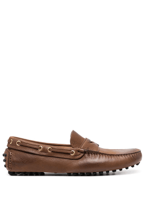 Car Shoe leather driving shoes - Brown