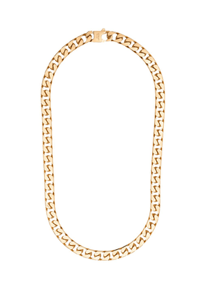 Off-White logo-engraved curb-chain necklace - GOLD