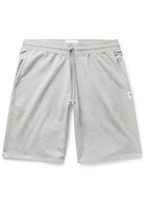 Reigning Champ - Wide-Leg Mélange Loopback Pima Cotton-Jersey Drawstring Shorts - Men - Gray