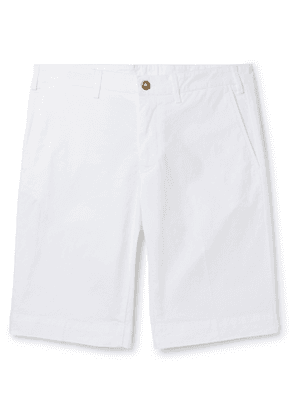 CANALI - Stretch-Cotton Twill Shorts - Men - White