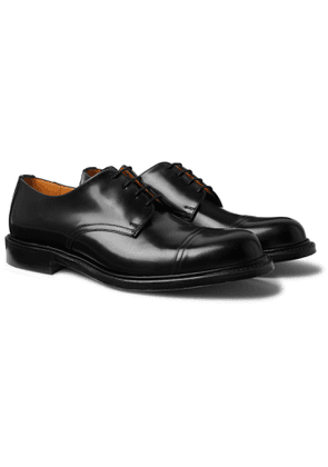 MR P. - Heath Goodyear-Welted Cap-Toe Polished-Leather Derby Shoes - Men - Black