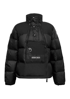 The North Face - Steep Tech Twill-Panelled Printed Quilted Nylon-Ripstop Hooded Down Jacket - Men - Black