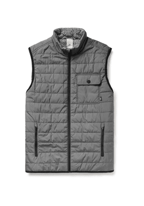 Faherty - Atmosphere Slim-Fit Reversible Quilted Padded Shell and Mélange Jersey Gilet - Men - Gray