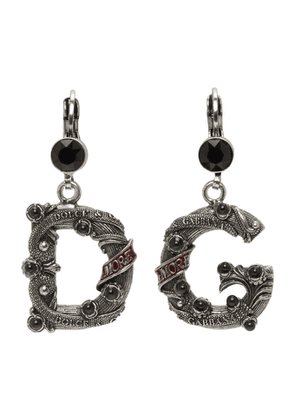 Dolce and Gabbana Black Small DG City Earrings