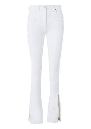 Stretch Cotton Jeans W/ Split Hem