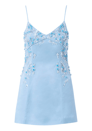 Embroidered Viscose Blend Mini Dress