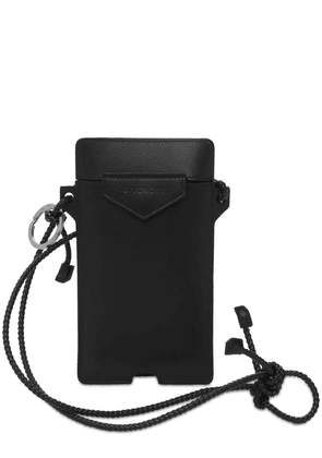 Logo Leather Phone Holder