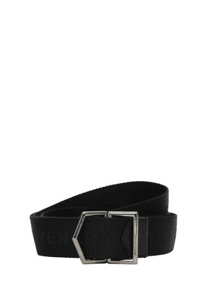 Logo Web Belt W/ Leather Details