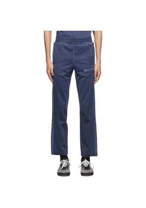 Palm Angels Navy Garment-Dyed Track Pants