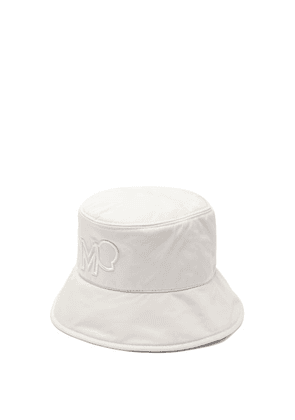 Moncler - Logo-embroidered Bucket Hat - Womens - Camel