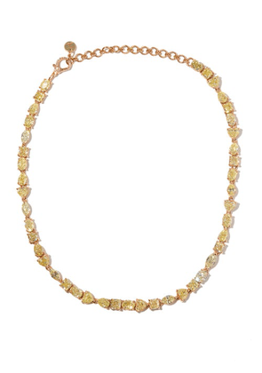 Shay - Yellow-diamond & 18kt Rose-gold Choker - Womens - Rose Gold