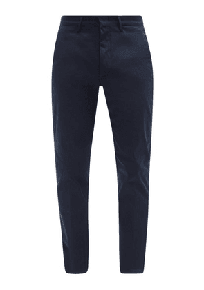 Dunhill - Cotton-blend Straight-leg Chino Trousers - Mens - Navy