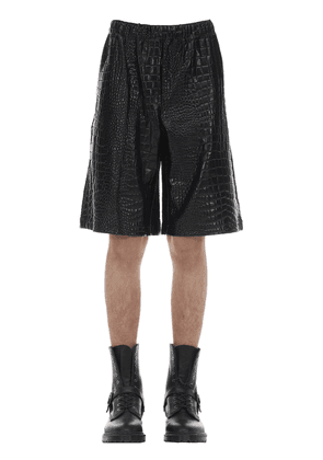 Printed Croc Embossed Tech Jersey Shorts