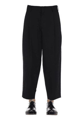 Cool Wool Pants W/ Silk Satin Side Bands