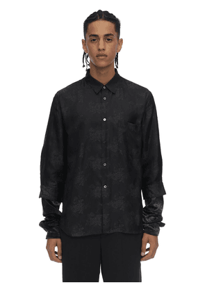 Jacquard Cupro Shirt W/ Double Cuffs