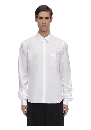 Cotton Broad Shirt W/ Double Cuffs