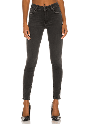 Citizens of Humanity Rocket Ankle Skinny Jean in Black. Size 28, 31.