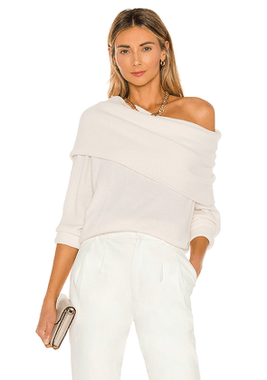 7 For All Mankind Funnel Neck Sweater in Ivory. Size M.